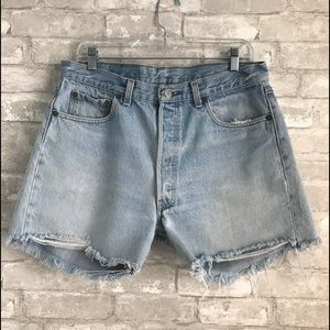 Levi's Red Tag 501 Buttonfly Cut Off Denim Shorts